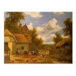 Farmyard Scene Postcard