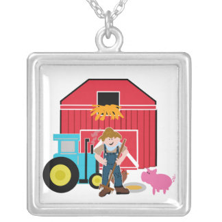 Farmyard Silver Plated Necklace