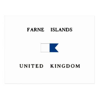 Farne Islands United Kingdom Alpha Dive Flag Postcard