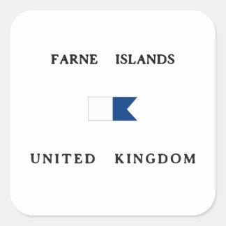 Farne Islands United Kingdom Alpha Dive Flag Square Sticker