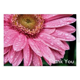 Farnham Arts RainyDayGerbera_PB130031, Thank You Card