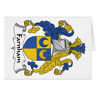 Farnham Family Crest Card