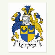 Farnham Family Crest Postcard