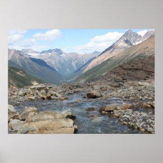 Farnham Jumbo Mountain Melting Glacier Cross Poster
