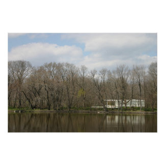 Farnsworth House, River Reflection Print
