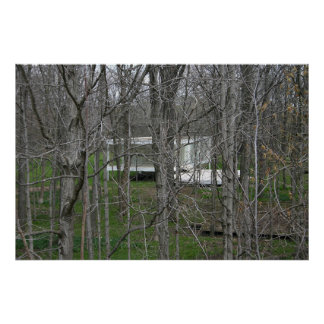 Farnsworth House, Woods Poster