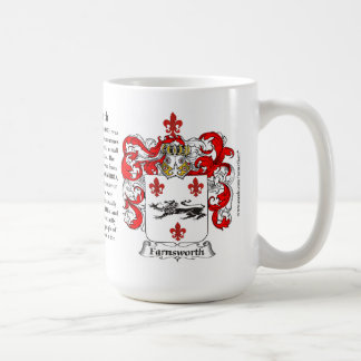 Farnsworth, the Origin, the Meaning and the Crest Coffee Mug