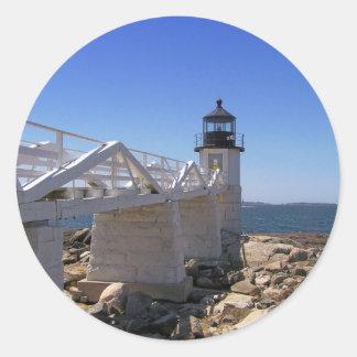 Faro 14 de Maine Pegatinas Redondas
