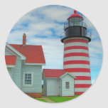 Faro 27 de Maine Etiqueta Redonda