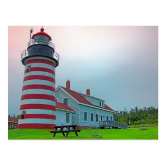 Faro 28 de Maine Tarjeta Postal