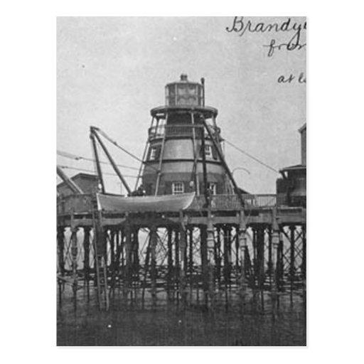 Faro 2 del bajío de Brandywine Tarjetas Postales