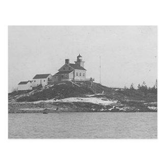 Faro 2 del puerto de Marquette Tarjeta Postal