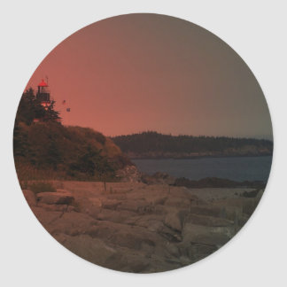 Faro 37 de Maine Etiqueta Redonda