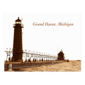 faro, asilo magnífico, Michigan Postales
