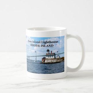 Faro color de rosa de la isla taza de Rhode Islan