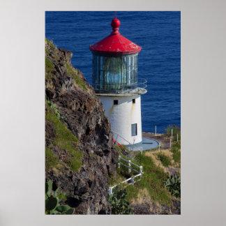 Faro costero, Hawaii Póster