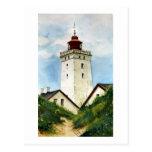 Faro danés tarjeta postal