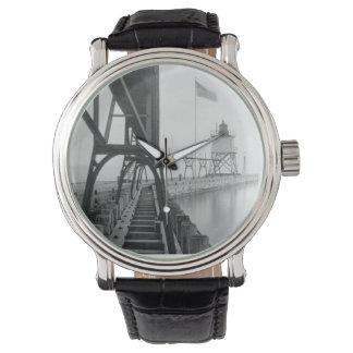 Faro de Algoma Pierhead Relojes De Mano
