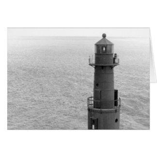 Faro de Algoma Pierhead Tarjeta De Felicitación