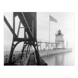 Faro de Algoma Pierhead Tarjetas Postales