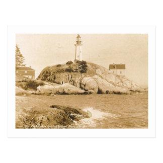 Faro de Atkinson del punto, vintage de Vancouver Postal
