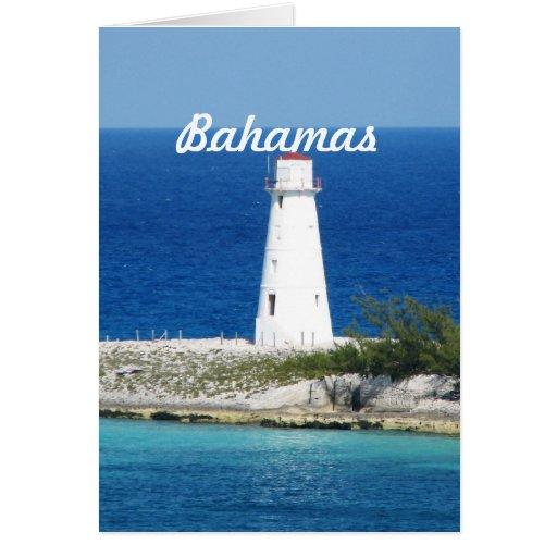 Faro de Bahama Tarjeta De Felicitación