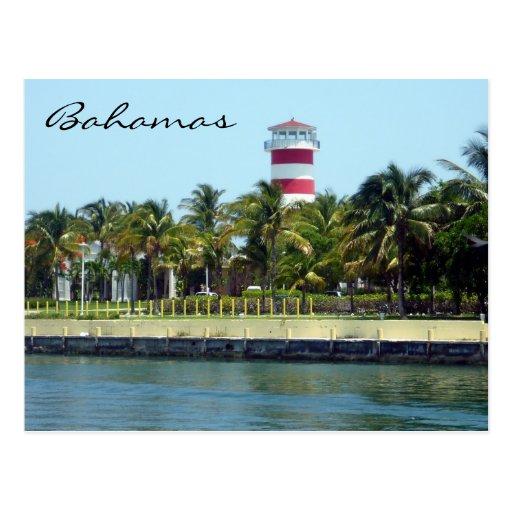 faro de Bahamas Tarjetas Postales