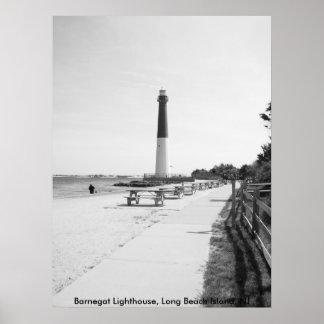 Faro de Barnegat, isla de Long Beach Posters