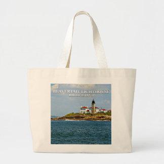 Faro de Beavertail, Rhode Island Bolsa Tela Grande