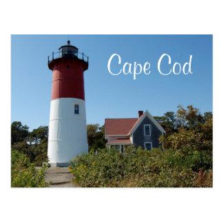 Faro de Cape Cod Nauset, postal de Massachusetts