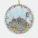 Faro de Cape Cod Ornamentos Para Reyes Magos
