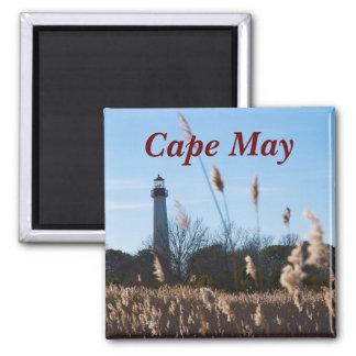Faro de Cape May Imán Cuadrado