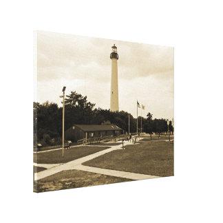 Faro de Cape May Impresión En Lienzo Estirada