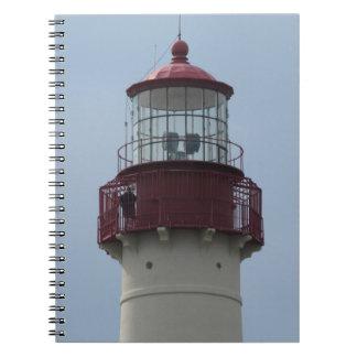 Faro de Cape May Libro De Apuntes Con Espiral
