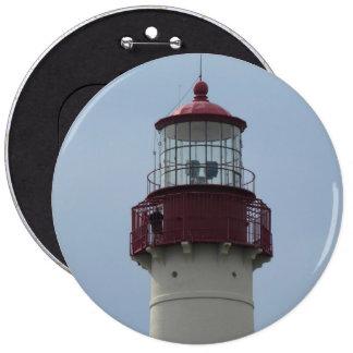 Faro de Cape May Pin Redondo De 6 Pulgadas