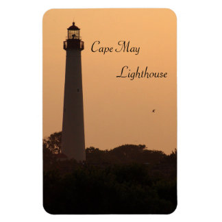 Faro de Cape May, puesta del sol Iman Rectangular