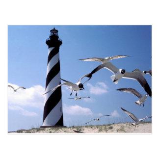 Faro de Carolina del Norte del faro de Hatteras Postal