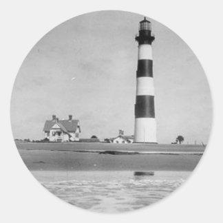 Faro de Charleston Pegatina Redonda