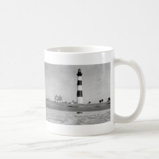 Faro de Charleston Tazas De Café