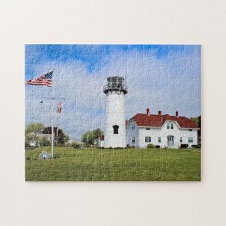 Faro de Chatham, Cape Cod Massachusetts Rompecabeza Con Fotos