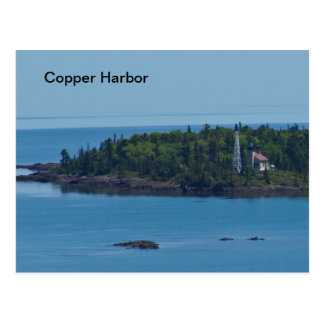 Faro de cobre de Michigan del puerto Postales