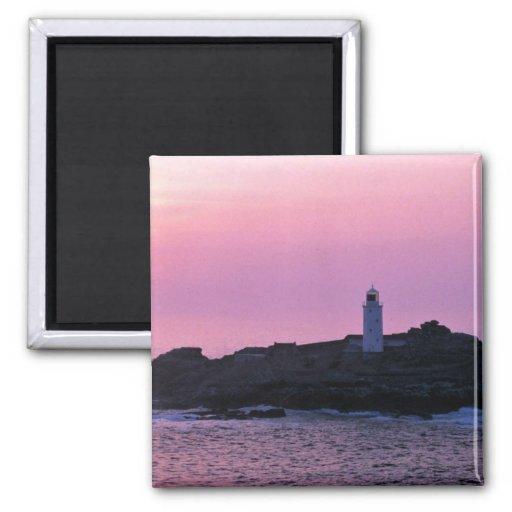 Faro de Godrevy en la Riviera de Cornualles Imán Para Frigorífico