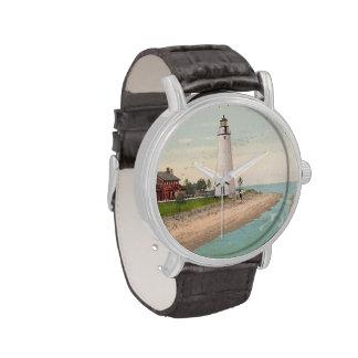 Faro de Gratiot del fuerte Relojes De Mano