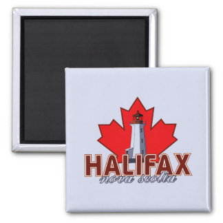 Faro de Halifax Imán Cuadrado