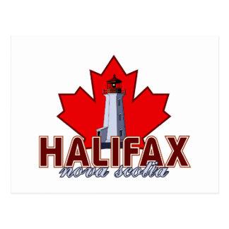 Faro de Halifax Tarjeta Postal