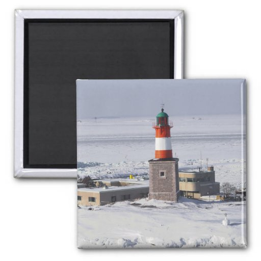 Faro de Harmaja en el imán de Helsinki Finlandia d