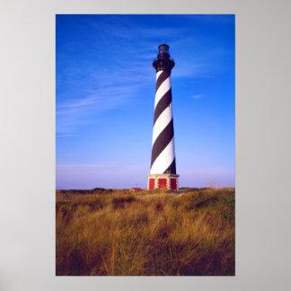 Faro de Hatteras del cabo, Carolina del Norte Póster