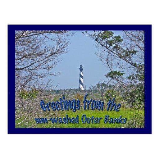 Faro de Hatteras del cabo de la serie de los humed Tarjetas Postales