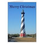 Faro de Hatteras del cabo del navidad Felicitación