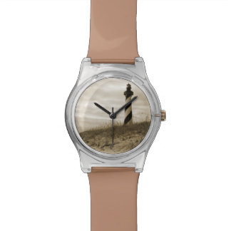 Faro de Hatteras del cabo Relojes De Mano